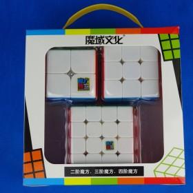 MoFangJiaoShi Zestaw 2x2, 3x3, 4x4