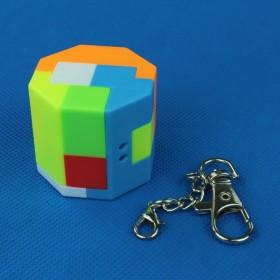 Octagonal cylinder brelok
