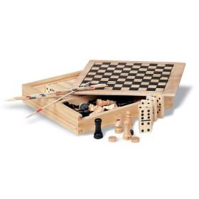 Zestaw 4 drewnianych gier w pudełku