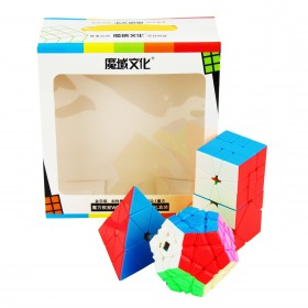 MoFangJiaoShi Gift Packing with 4 cubes