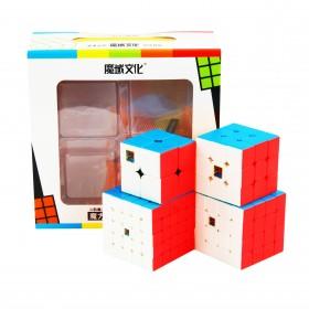 MoFangJiaoShi Zestaw 2x2 + 3x3 + 4x4 + 5x5