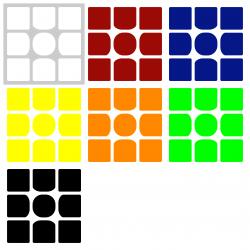 Naklejki 3x3x3 AoLong 54,5 mm