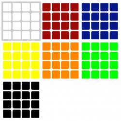 Naklejki 4x4x4 MoYu