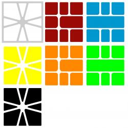 Naklejki Square-1 Mofangge
