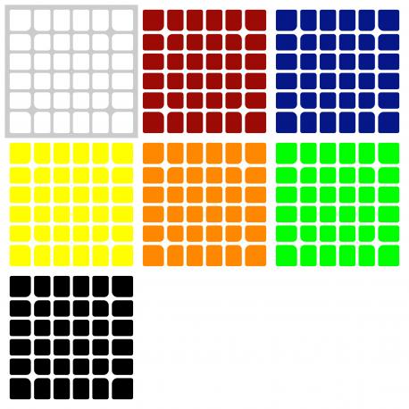 Naklejki 6x6x6 WuHua