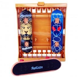 Zestaw SBEGO Fingerboard 3 sztuki + Stojak na deski i akcesoria